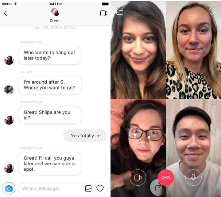 Instagram_live video chat