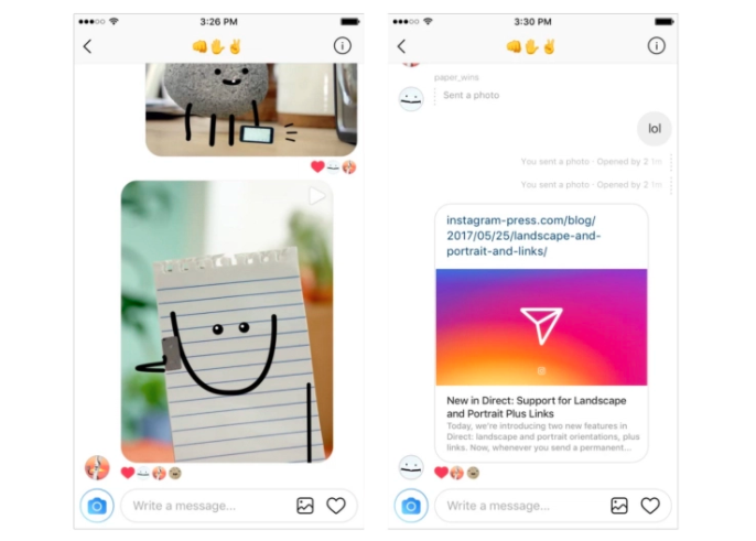 IG Direct new features