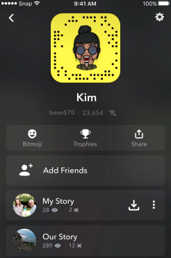 Snapchat_new profile page